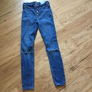 LIKE NEW buttoned high rise jean jeggings